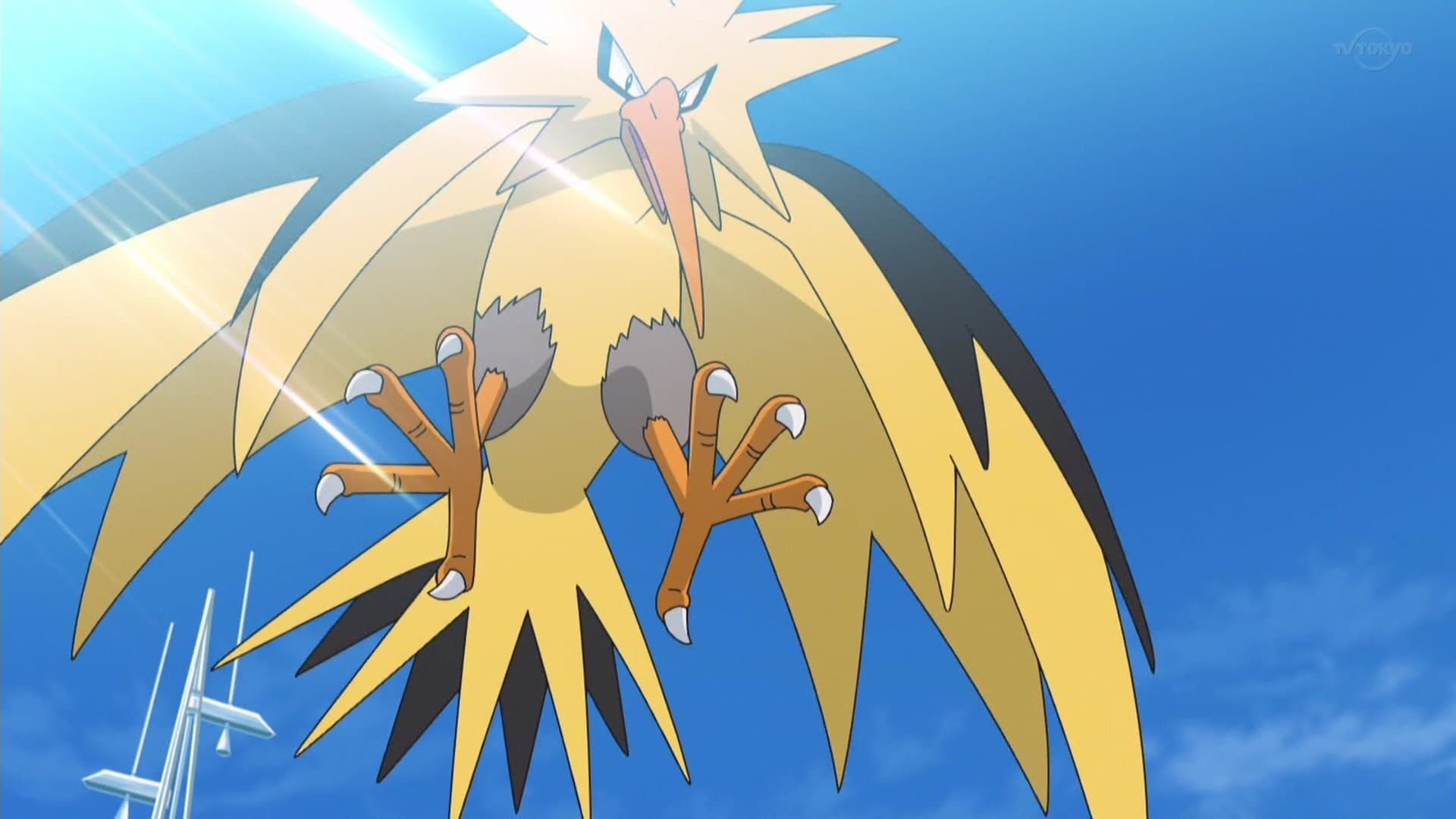 Pokémon Season 23 :Episode 40  VS Zapdos! Legendary raid battle!!