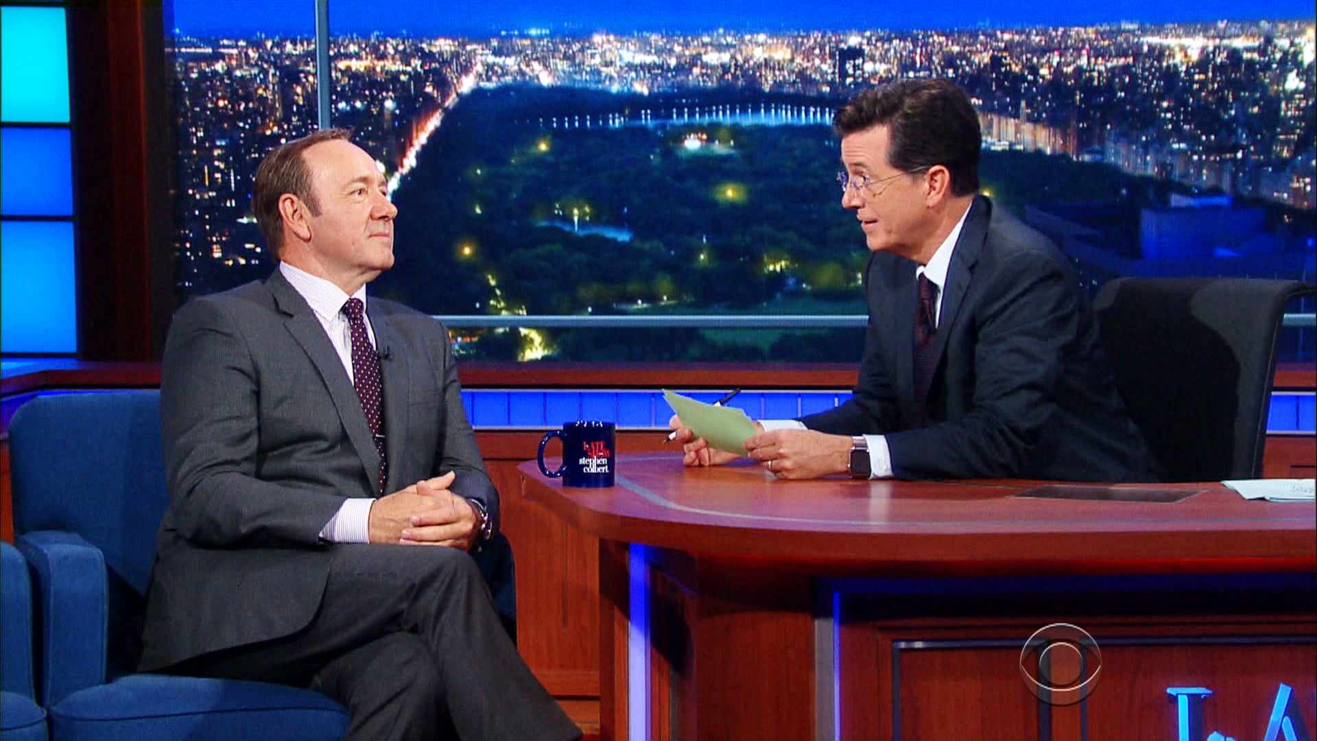 The Late Show with Stephen Colbert Season 1 :Episode 7  Kevin Spacey, Carol Burnett, Abbi Jacobson,  Ilana Glazer, Willie Nelson
