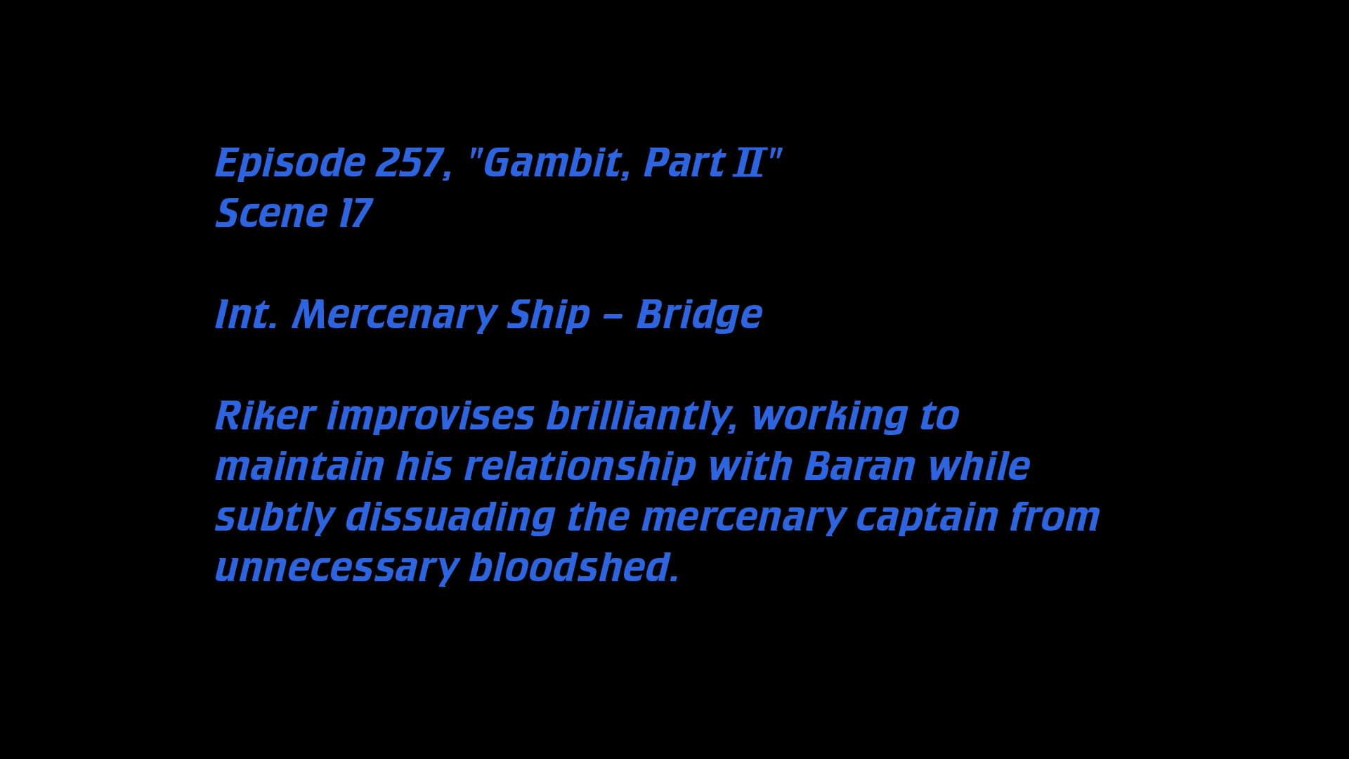 Deleted Scenes: S07E05 -  Gambit (2)-Azwaad Movie Database