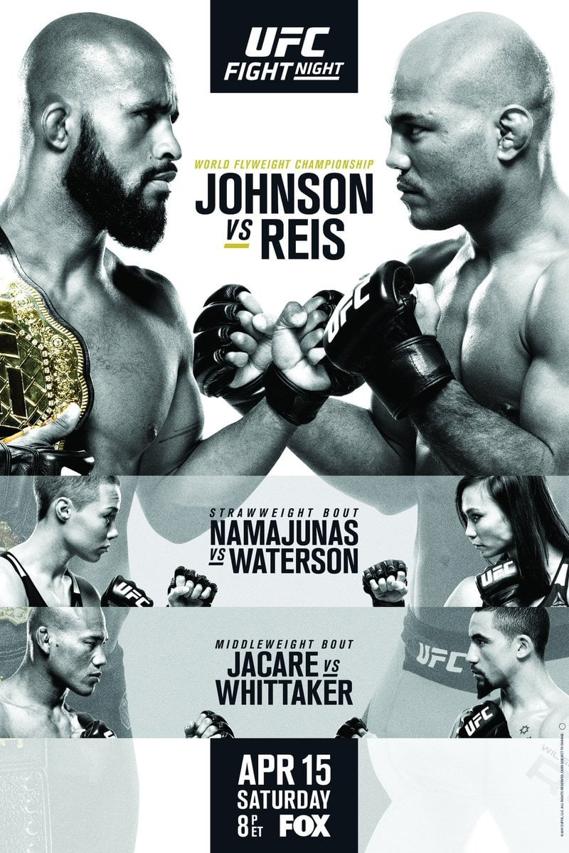 Ver UFC on Fox 24: Johnson vs. Reis Online HD Español (2017)