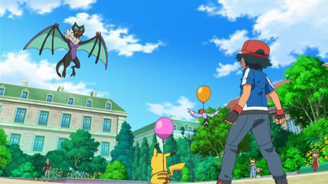 Pokémon Season 17 :Episode 5  A Blustery Santalune Gym Battle!