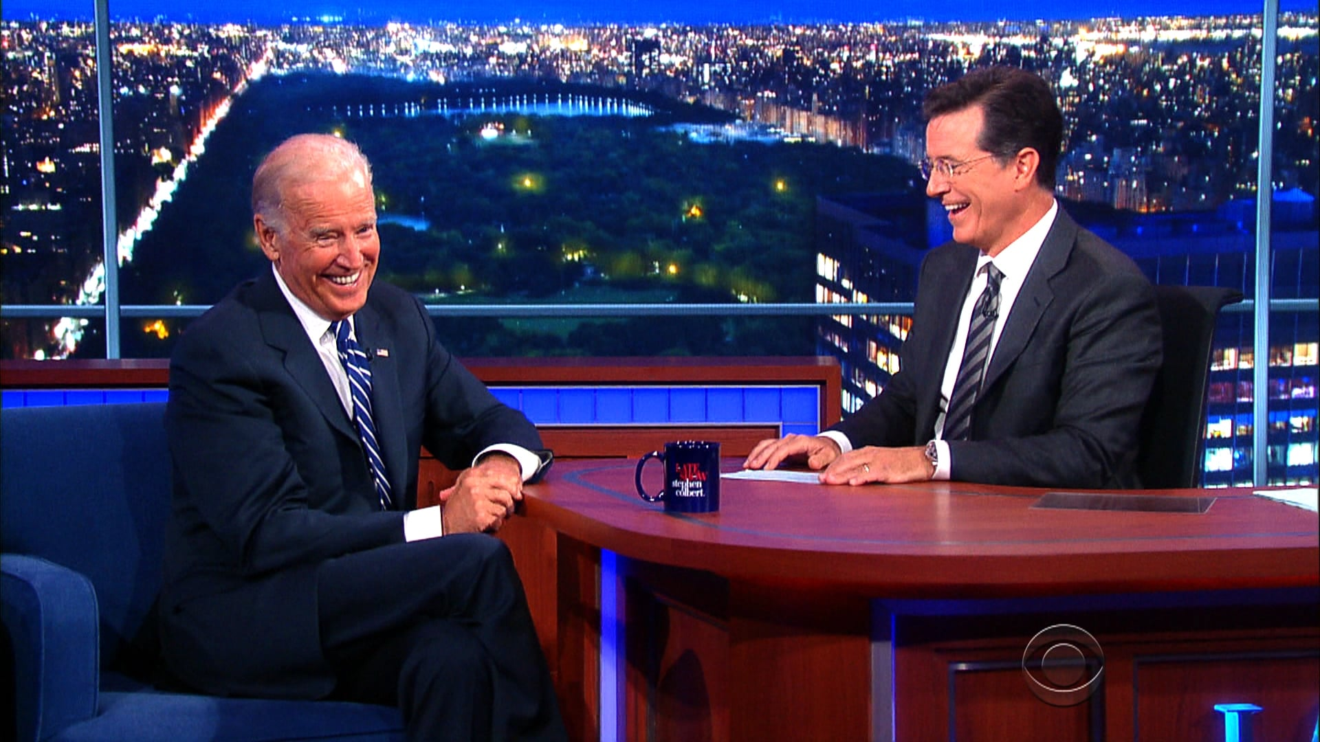 The Late Show with Stephen Colbert Season 1 :Episode 3  Vice President Joe Biden, Travis Kalanick, Toby Keith