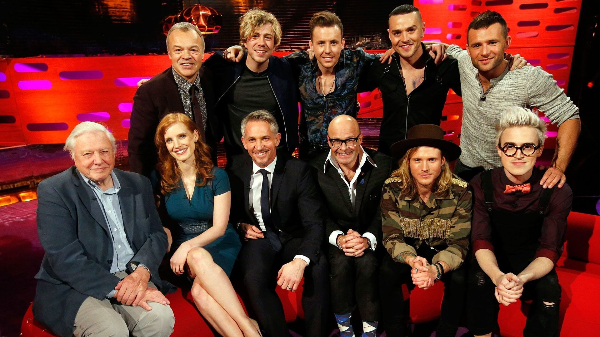 The Graham Norton Show Season 16 :Episode 15  Sir David Attenborough, Gary Lineker, Jessica Chastain, Harry Hill, McBusted