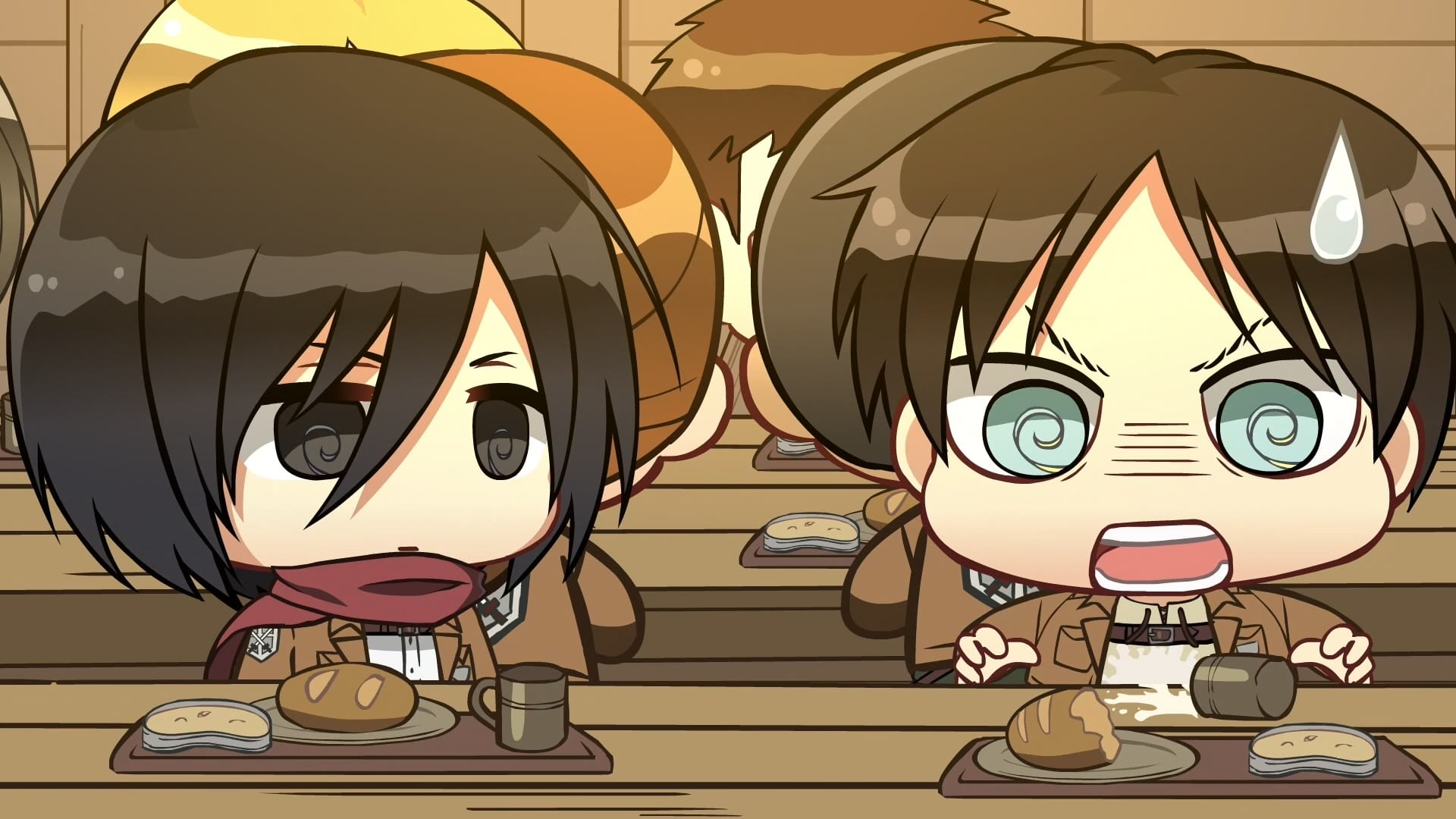 Attack on Titan Season 0 :Episode 12  Chibi Theatre: Fly, Cadets, Fly!: Day 20 / Day 21 / Day 22