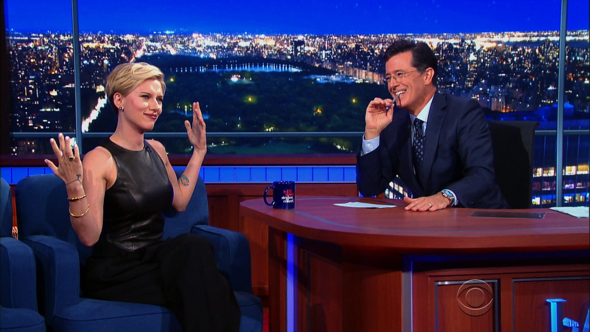 The Late Show with Stephen Colbert Season 1 :Episode 2  Scarlett Johansson, Elon Musk, Kendrick Lamar