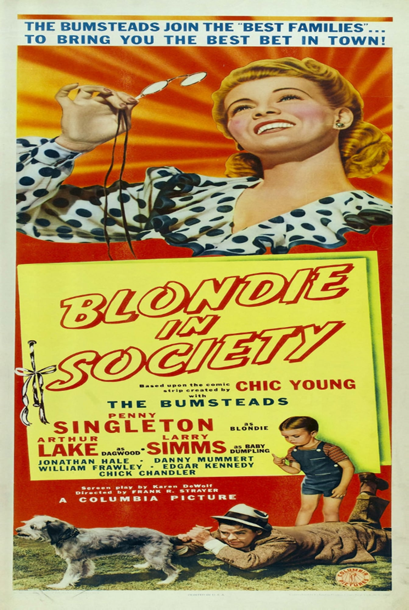 Ver Blondie in Society Online HD Español (1941)