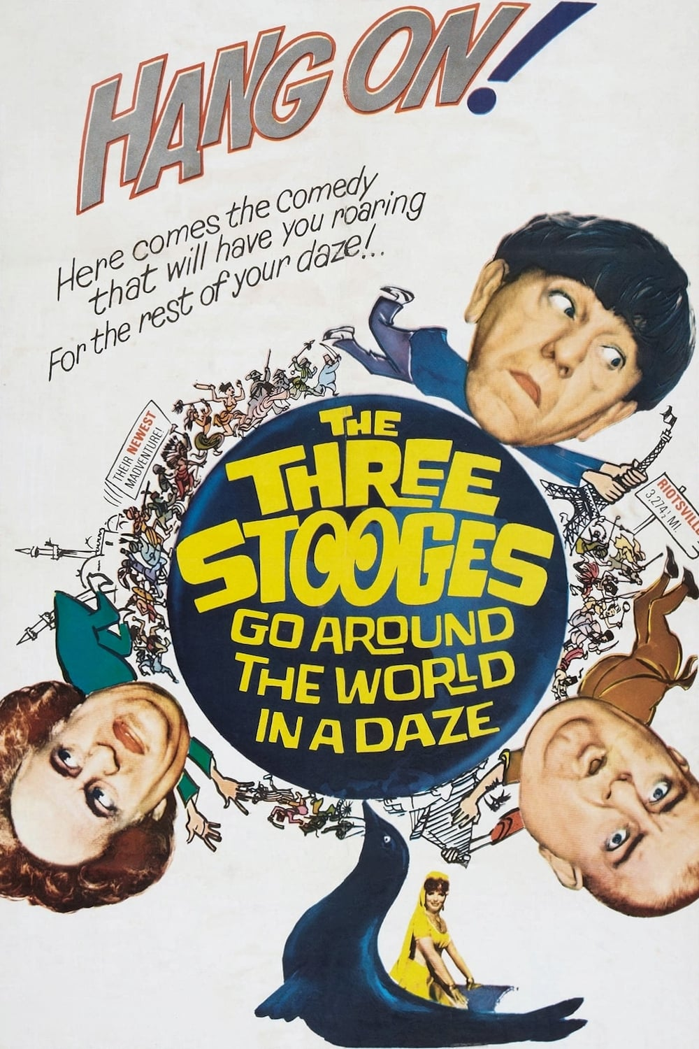 The Three Stooges Go Around the World in a Daze on FREECABLE TV