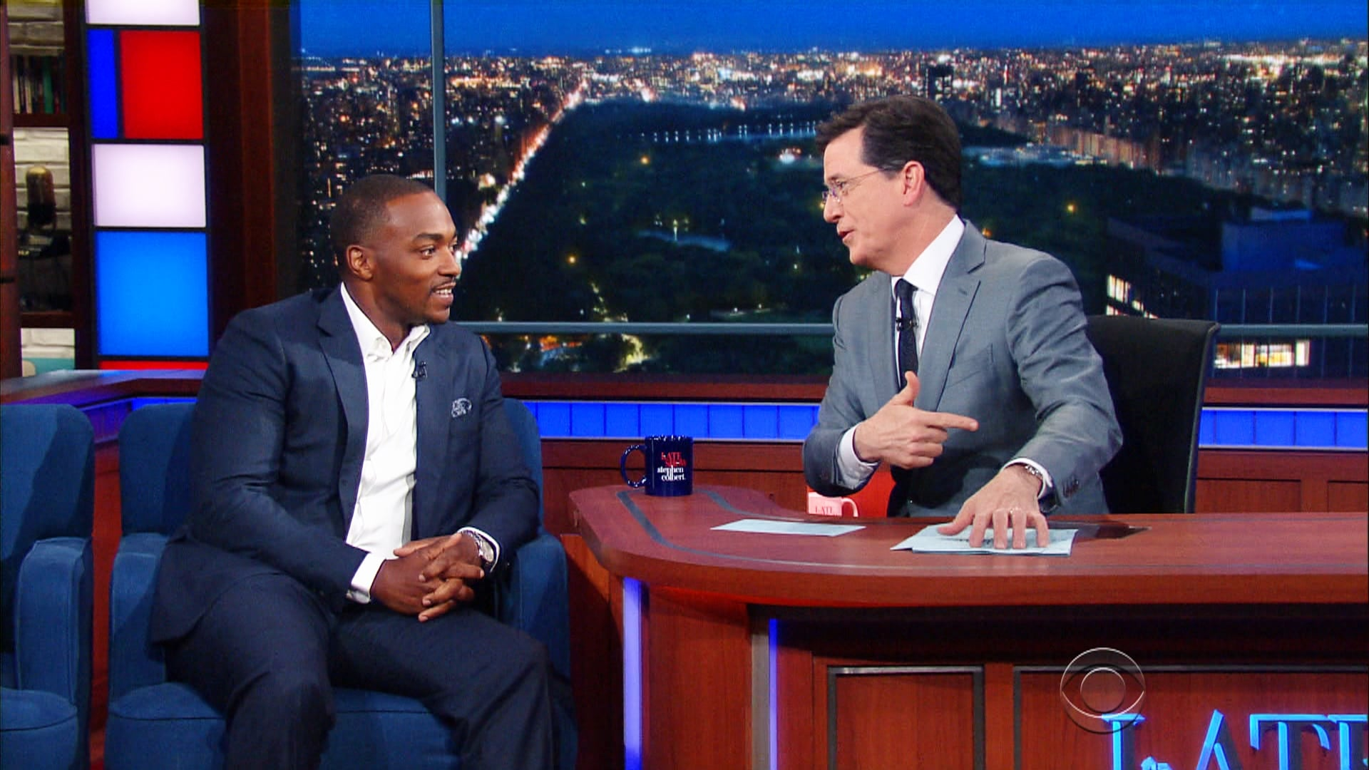 The Late Show with Stephen Colbert Season 1 :Episode 135  Anthony Mackie, Rob Reiner, Maxwell