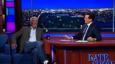 The Late Show with Stephen Colbert Season 1 :Episode 19  Morgan Freeman, Ruth Wilson, Sean Murray