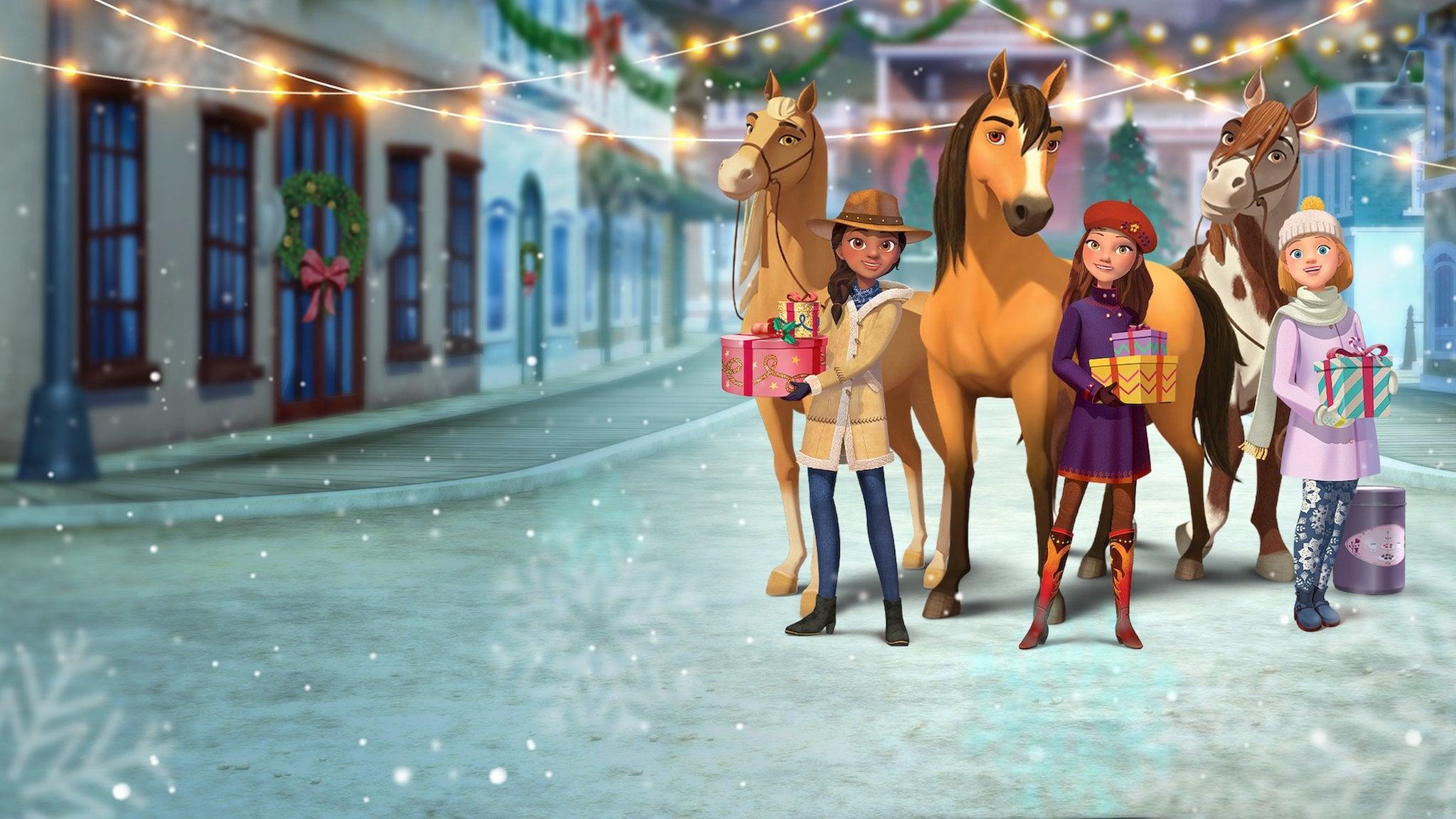 DESCARGAR Spirit Riding Free: Spirit of Christmas (2019) pelicula completa en español latino 720p