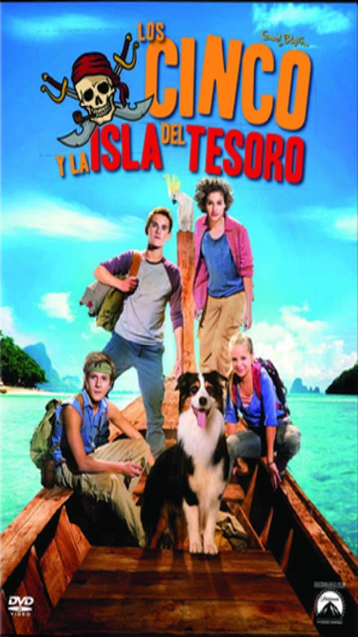 Póster Los cinco y la isla del tesoro