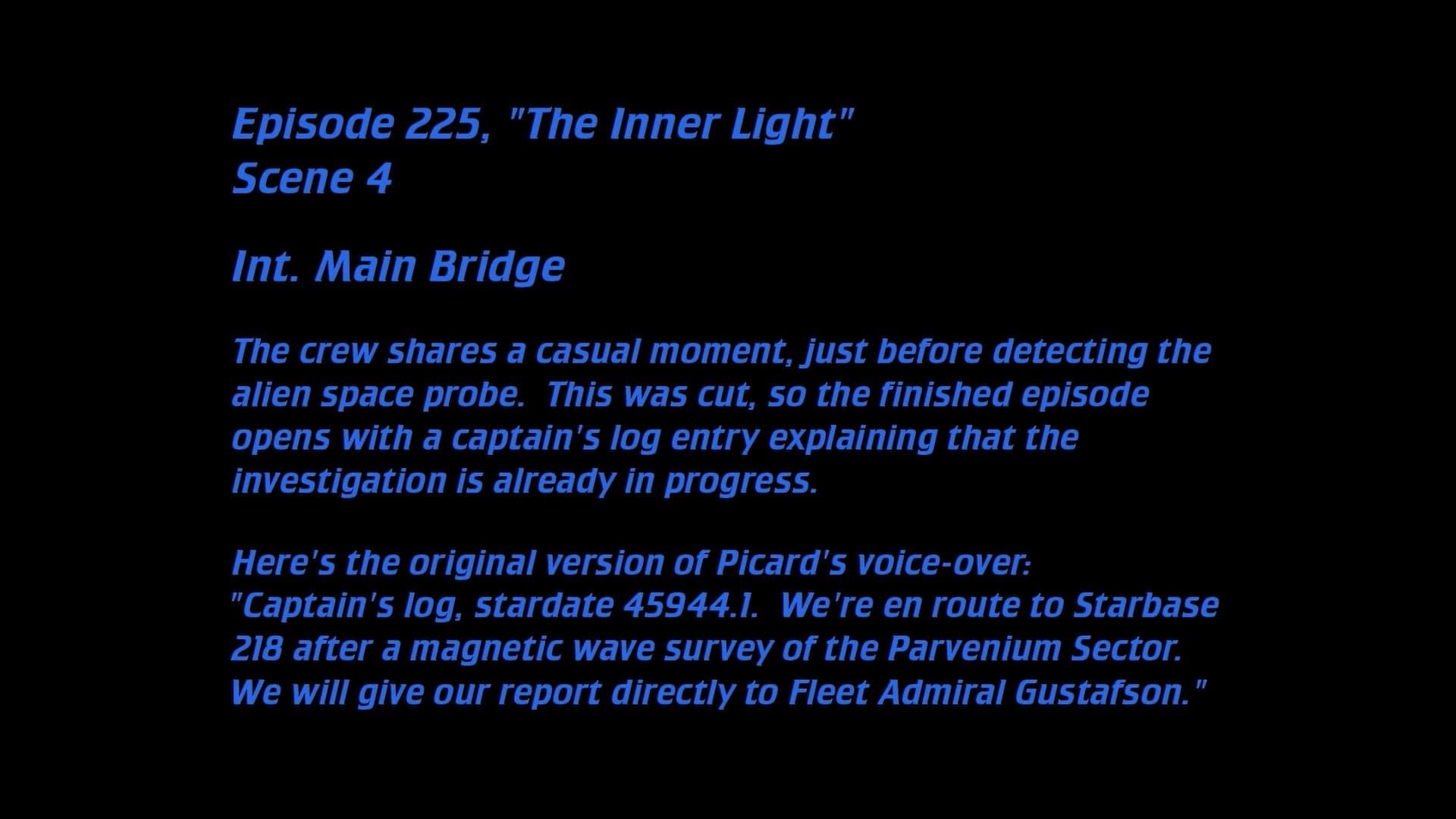 Deleted Scenes: S05E25 - The Inner Light-Azwaad Movie Database