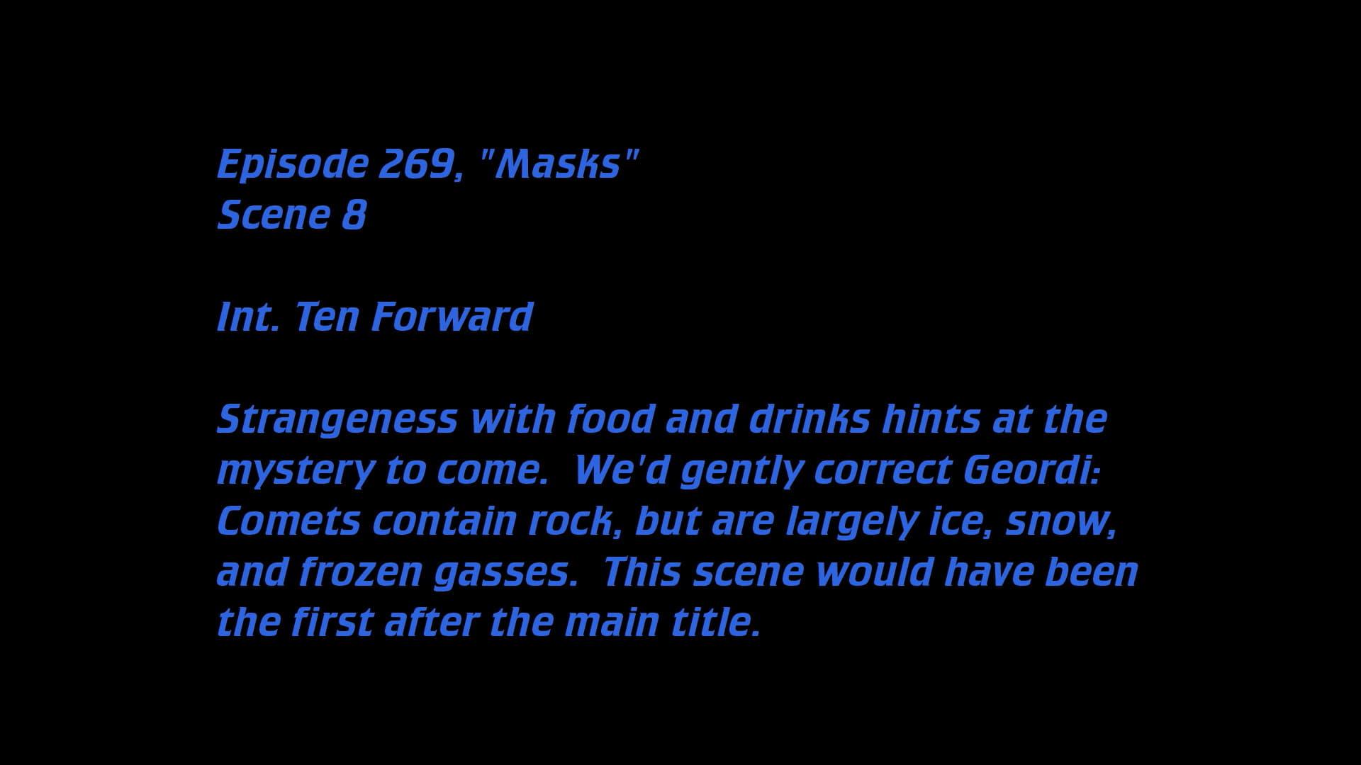 Deleted Scenes: S07E17 - Masks-Azwaad Movie Database