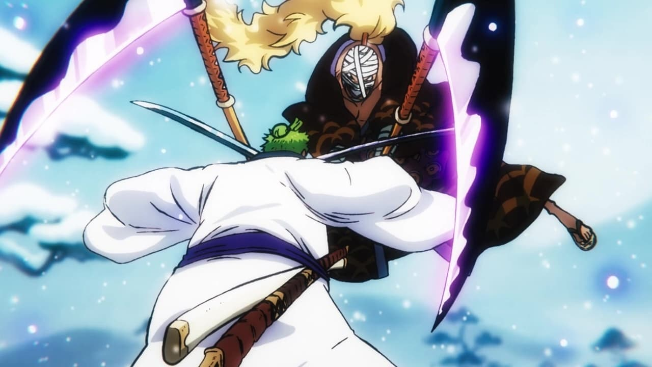 One Piece Season 21 :Episode 934  A Big Turnover! The Three-Sword Style Overcomes Danger!