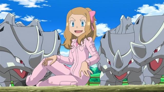Pokémon Season 17 :Episode 7  Giving Chase at the Rhyhorn Race!