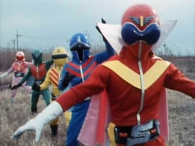 Super Sentai Season 1 :Episode 1  The Crimson Sun! The Invincible Gorangers
