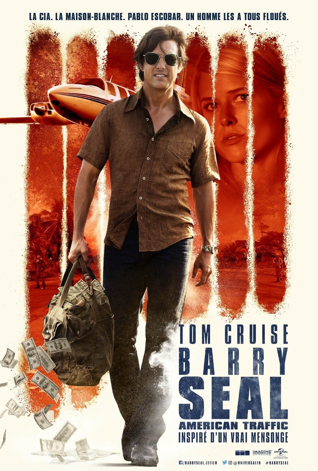 Poster and image movie Film Barry Seal: Trafic in stil American - American Made - American Made -  2017