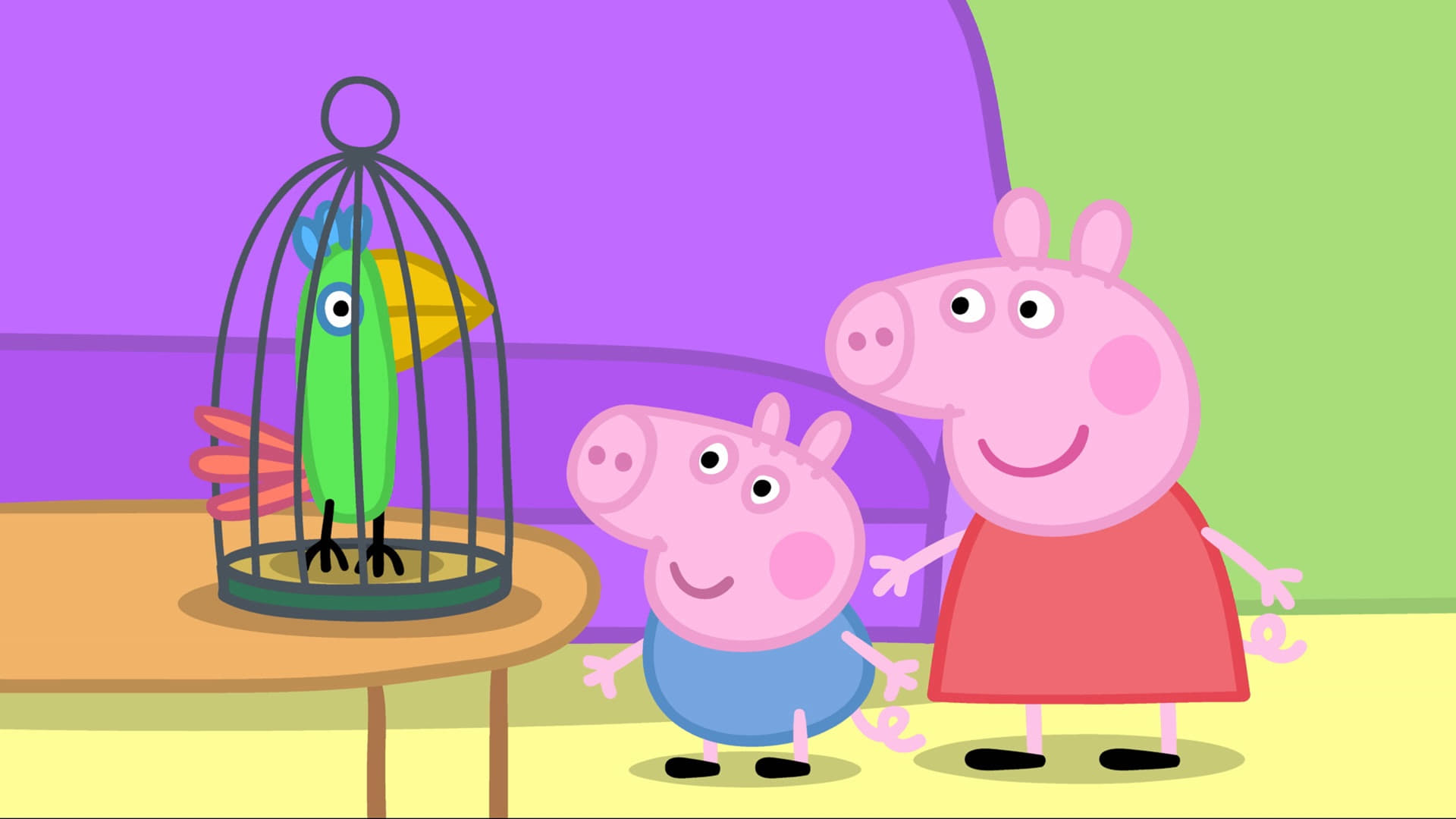 Peppa Pig Season 2 :Episode 4  Polly's Holiday