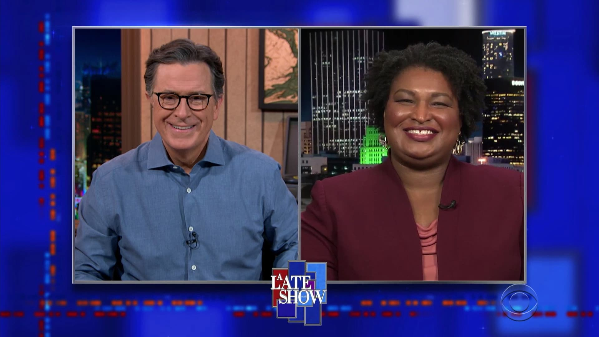 The Late Show with Stephen Colbert Season 6 :Episode 33  Stacey Abrams, Thomas Middleditch