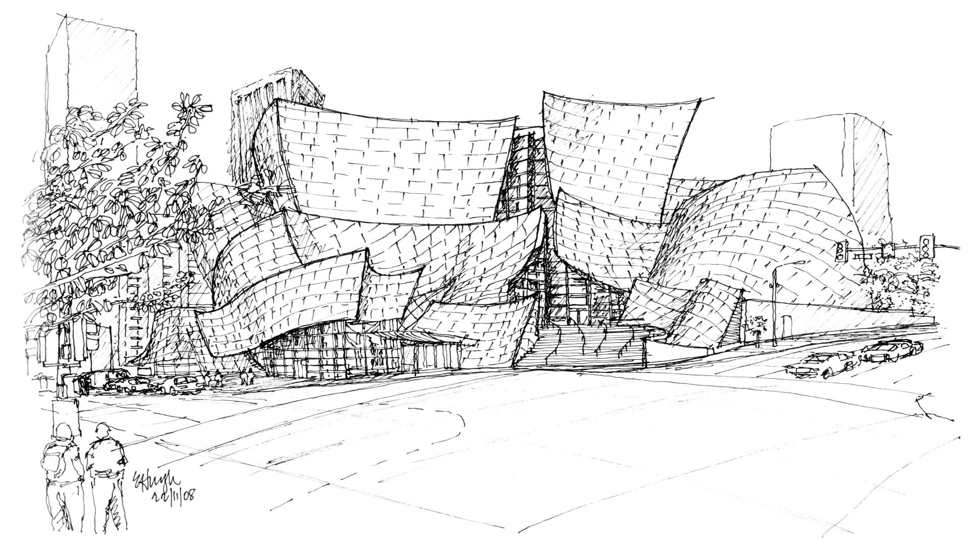 Sketches of Frank Gehry (2006)