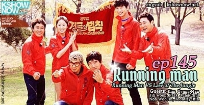 Running Man Season 1 :Episode 145  Running Man VS Law of The Jungle