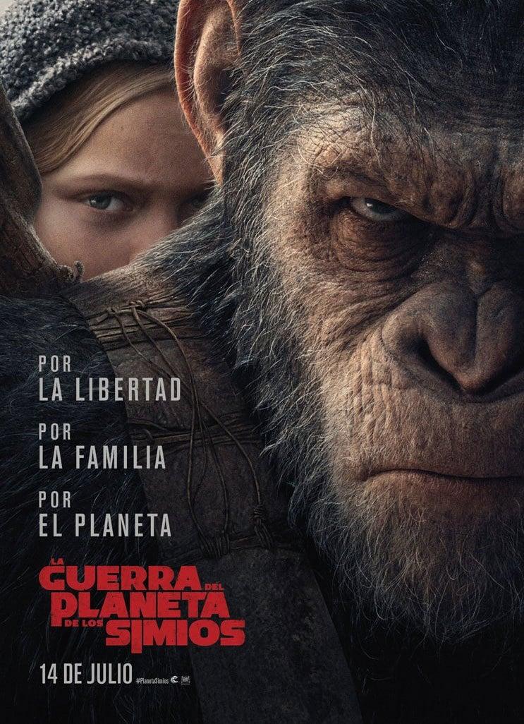 Póster La guerra del planeta de los simios
