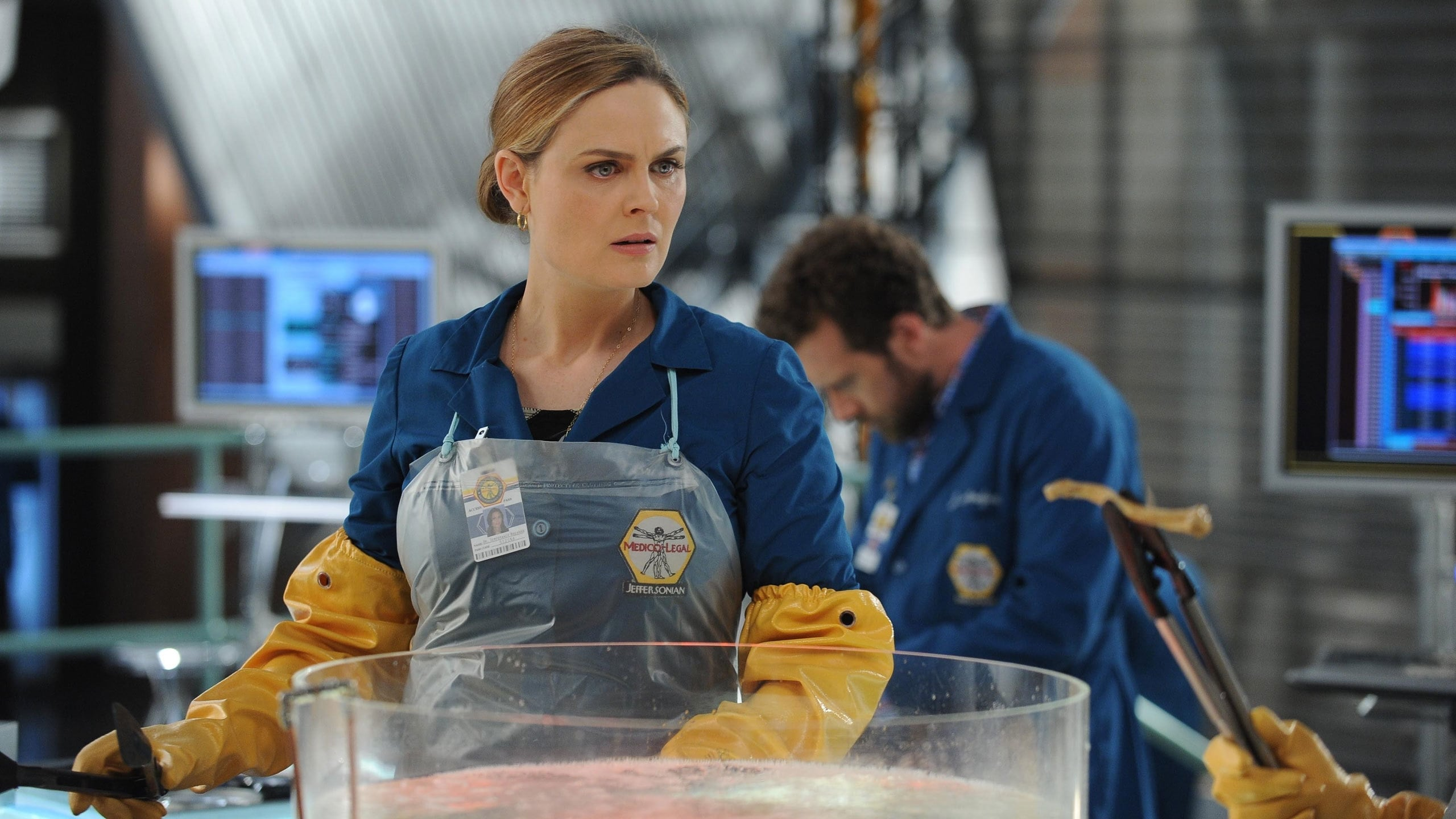 Bones Season 10 :Episode 8  The Puzzler in the Pit