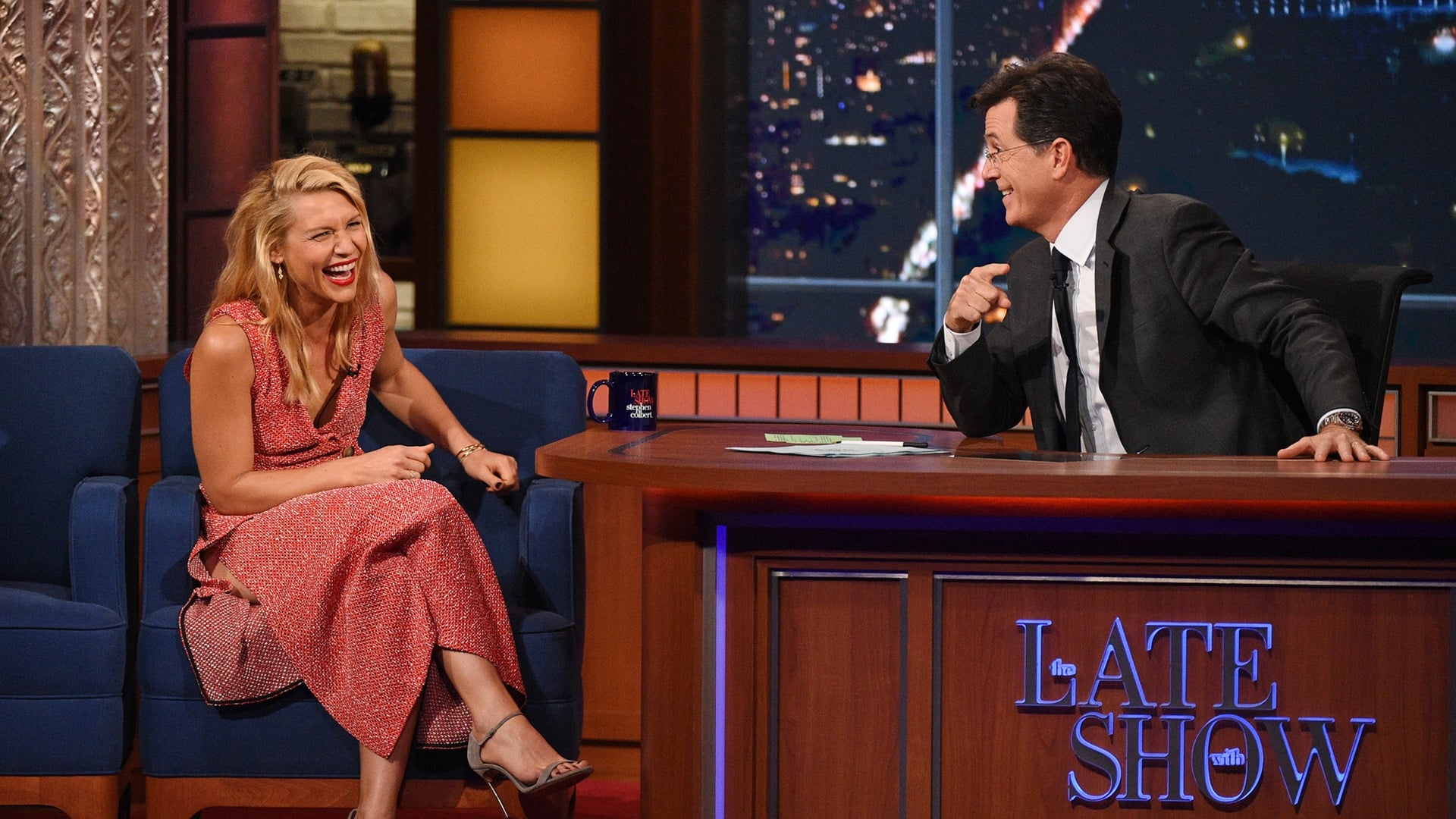 The Late Show with Stephen Colbert Season 1 :Episode 18  John Kerry, Claire Danes, PewDiePie