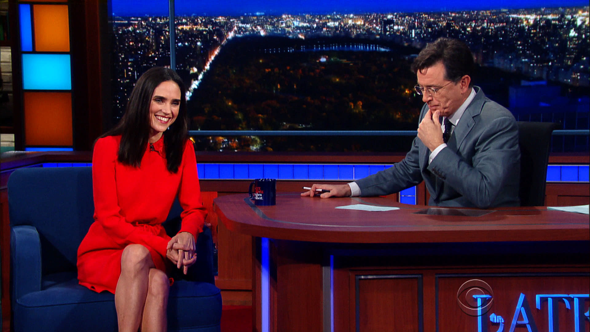 The Late Show with Stephen Colbert Season 1 :Episode 43  Jennifer Connelly, Judd Apatow, The Internet