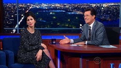 The Late Show with Stephen Colbert Season 1 :Episode 26  Sarah Silverman, Elijah Wood, Symphony of the Goddesses
