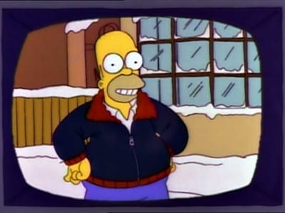 The Simpsons Season 4 :Episode 9  Mr. Plow