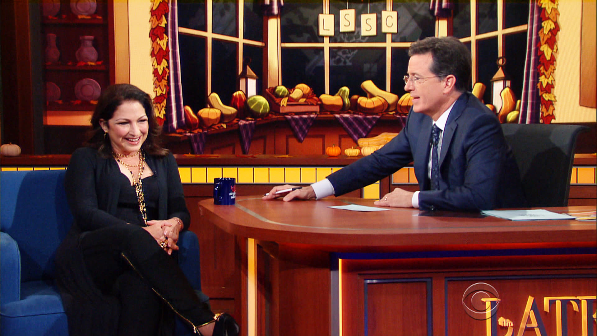 The Late Show with Stephen Colbert Season 1 :Episode 52  Gloria Estefan, Eric Greitens, Jake Wood, Daniel Boulud