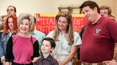 Young Sheldon Season 1 :Episode 16  Killer Asteroids, Oklahoma, and a Frizzy Hair Machine