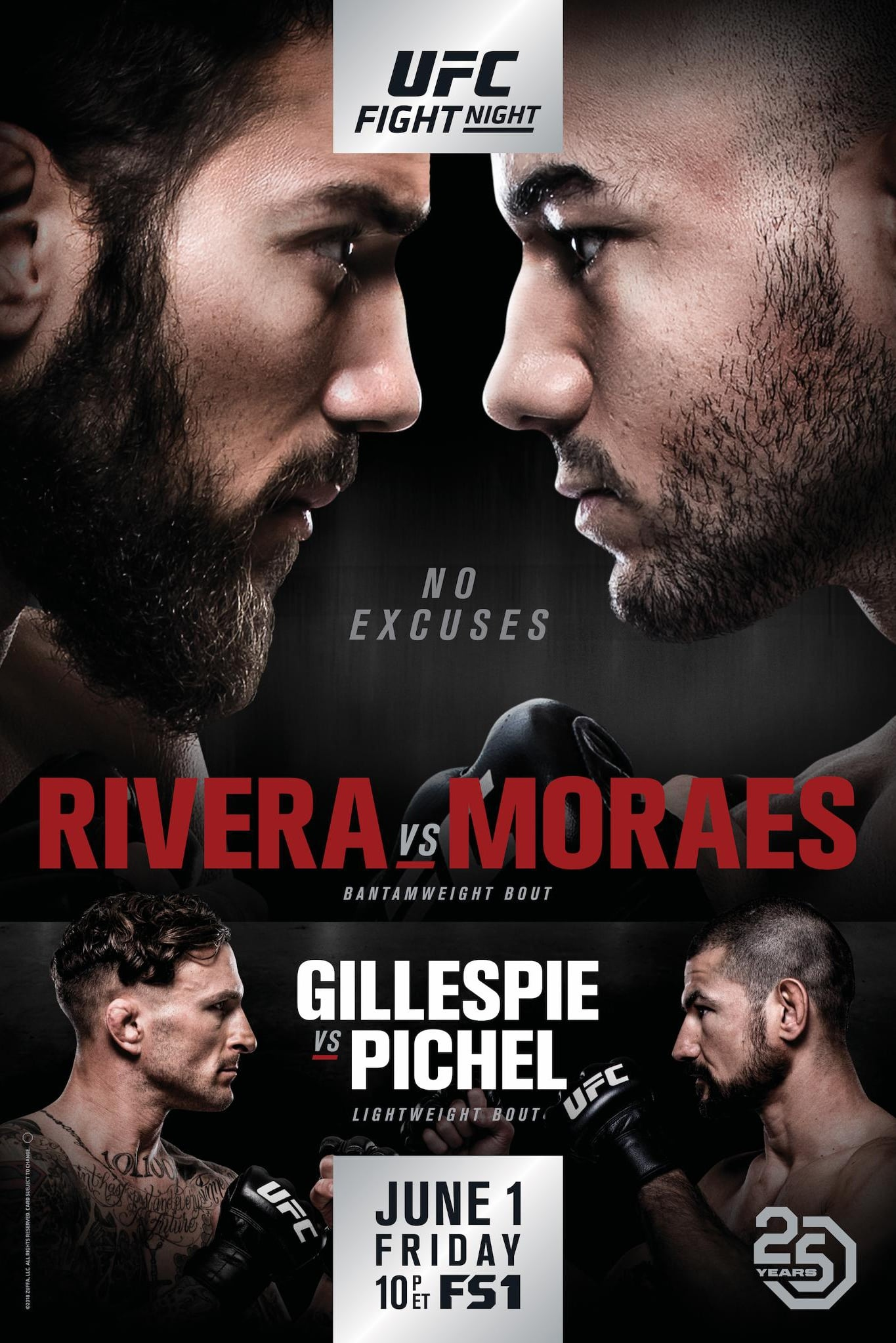 Ver UFC Fight Night 131: Rivera vs. Moraes Online HD Español ()