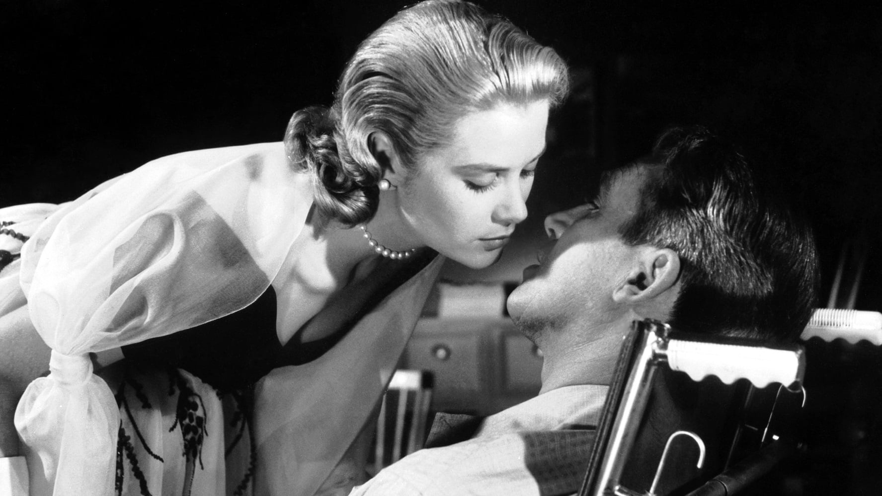 Grace Kelly and Jimmy Stewart
