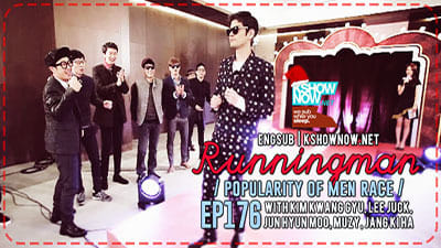Running Man Season 1 :Episode 176  Men's Popularity Race
