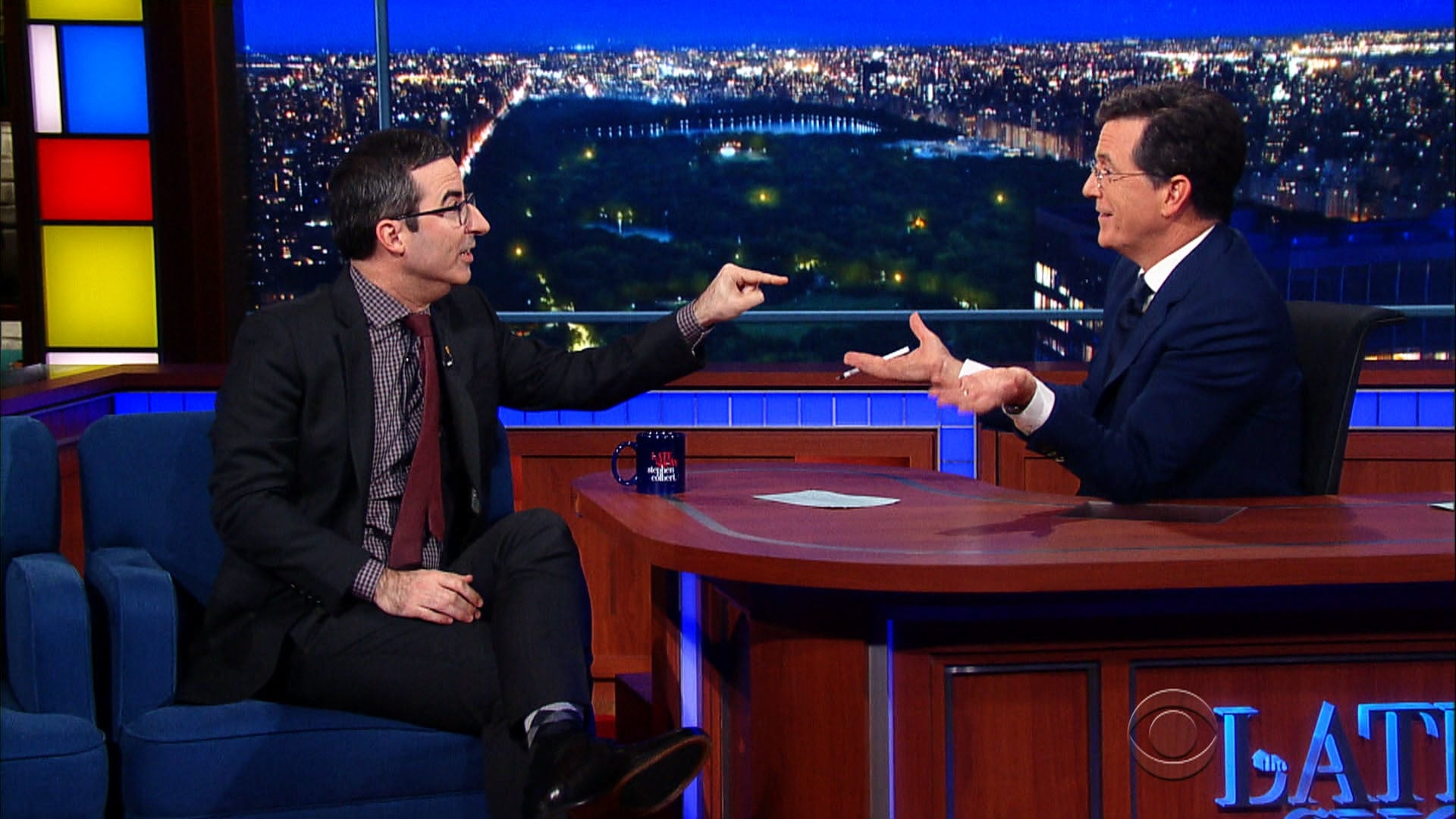 The Late Show with Stephen Colbert Season 1 :Episode 17  John Oliver, Evan Spiegel, Bill Withers, Ed Sheeran