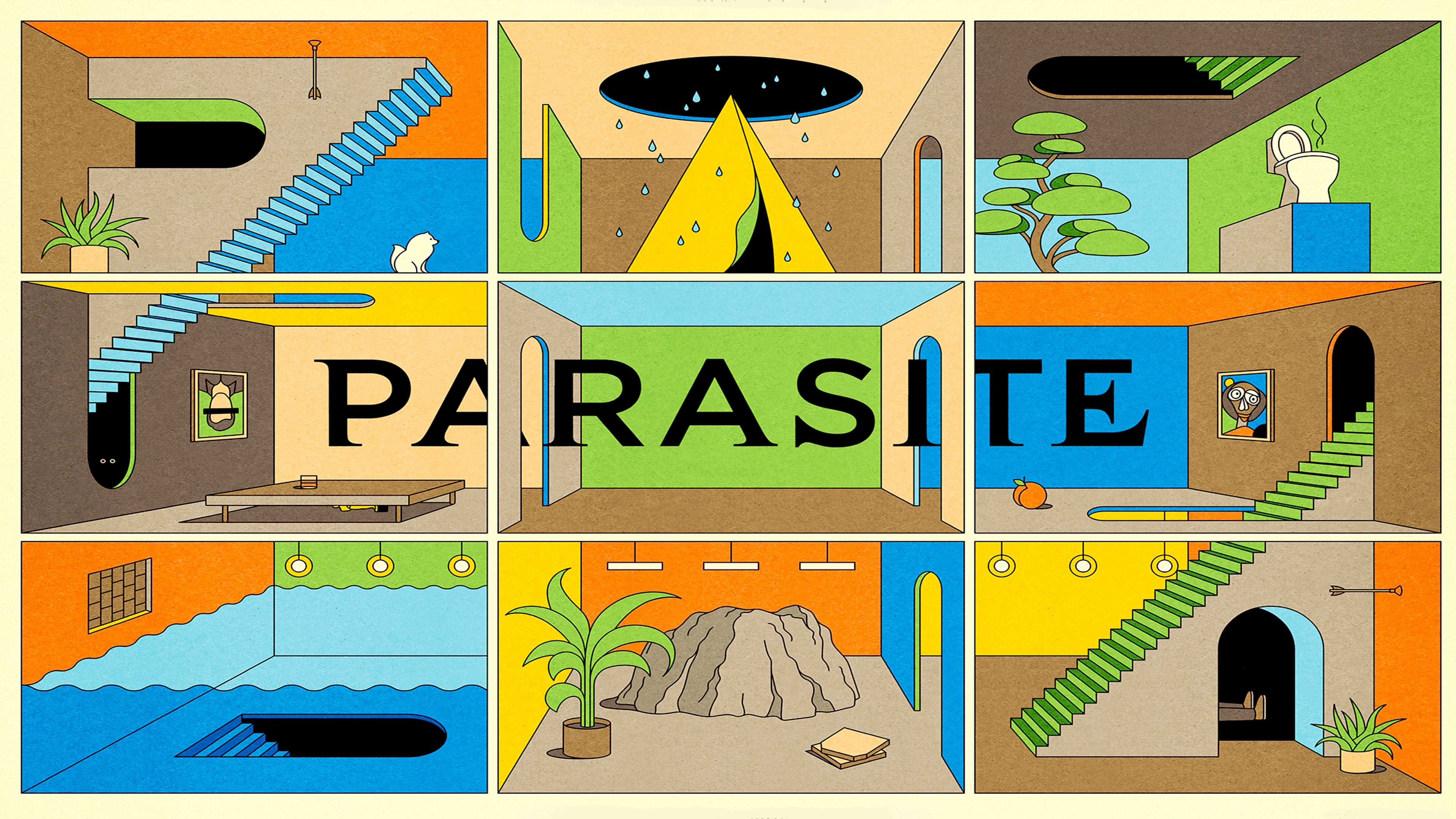 Backgrounds and walpapers Parasite