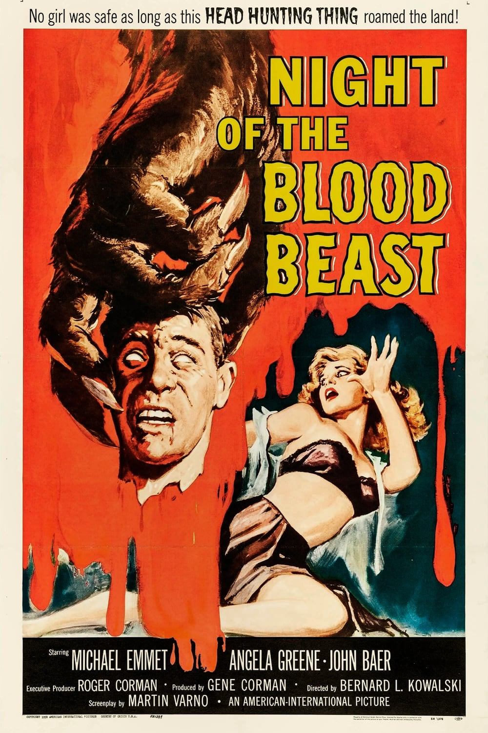 Night of the Blood Beast on FREECABLE TV