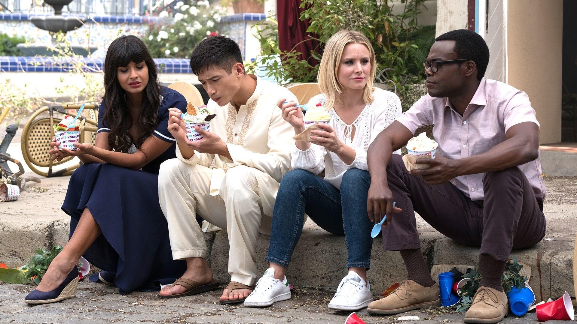 Tahani, Jason, Eleanor and Chidi.