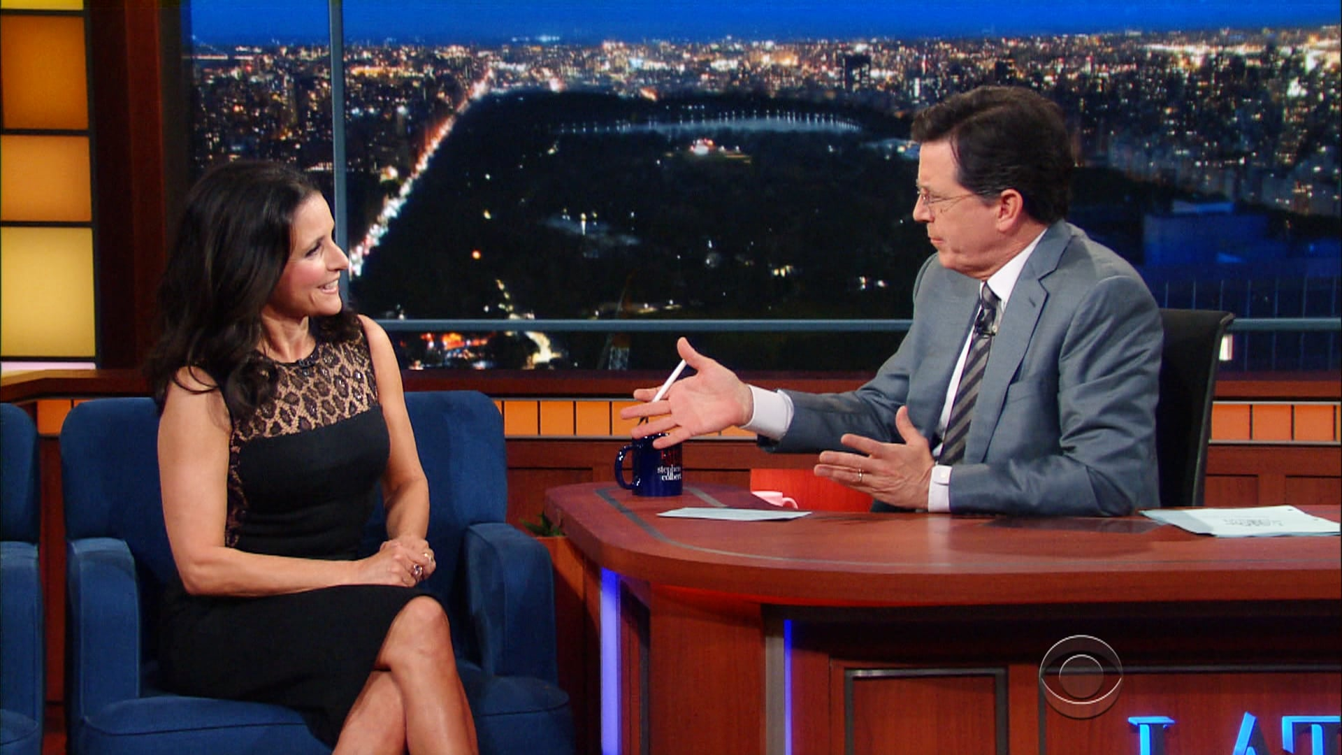 The Late Show with Stephen Colbert Season 1 :Episode 127  Julia Louis-Dreyfus, Nikolaj Coster-Waldau, Sam Morril