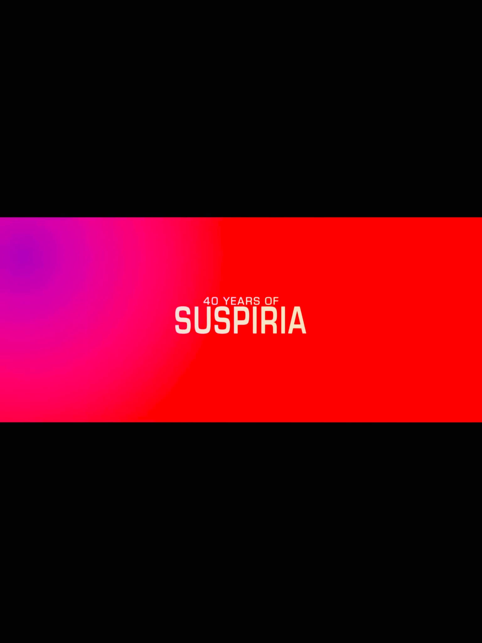 A Sigh from the Depths: 40 Years of Suspiria