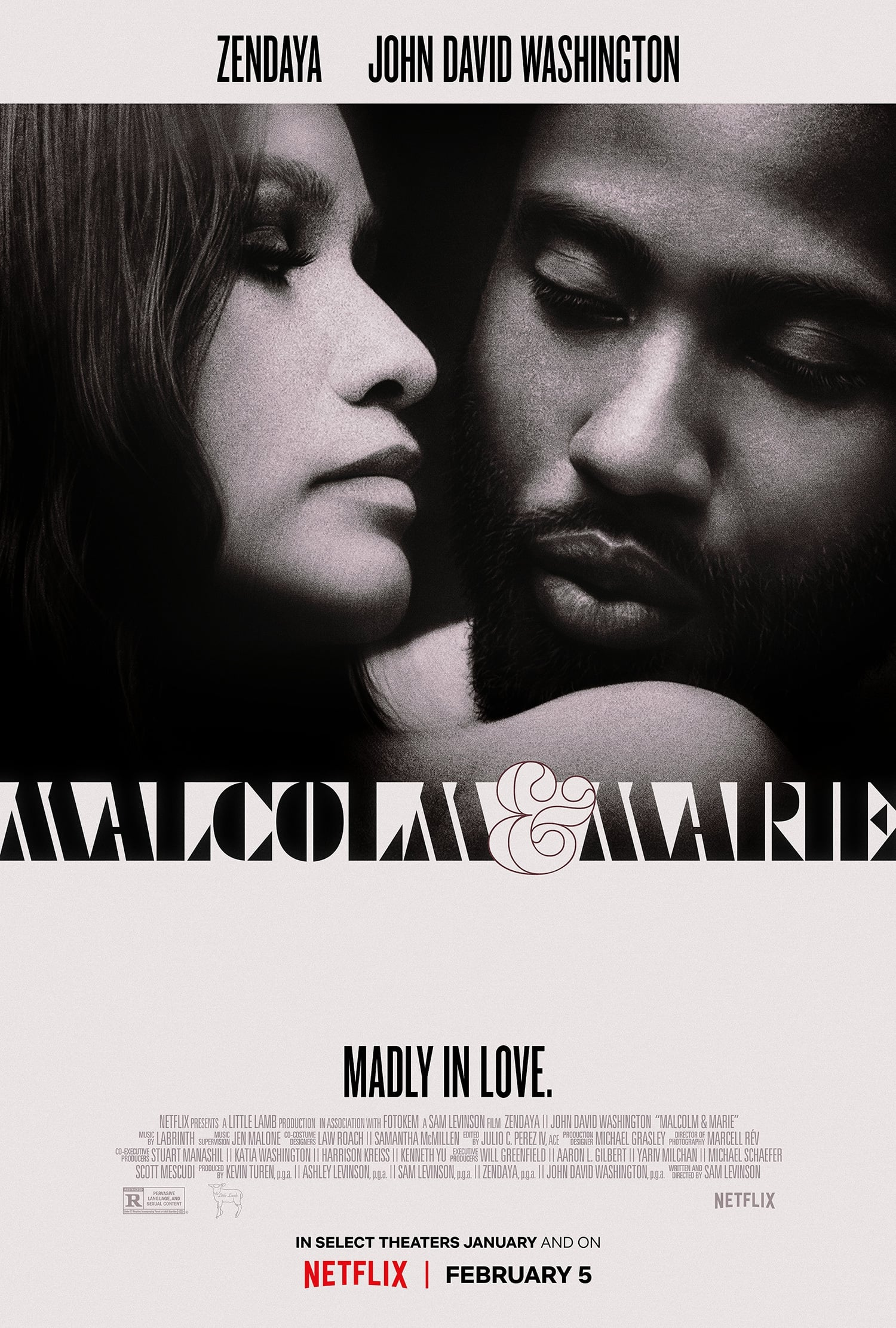 Poster and image movie Malcolm & Marie