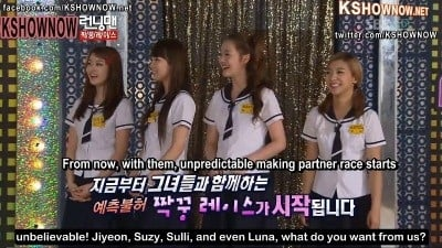 Running Man Season 1 :Episode 55  Running Man High School Girls Special (1)