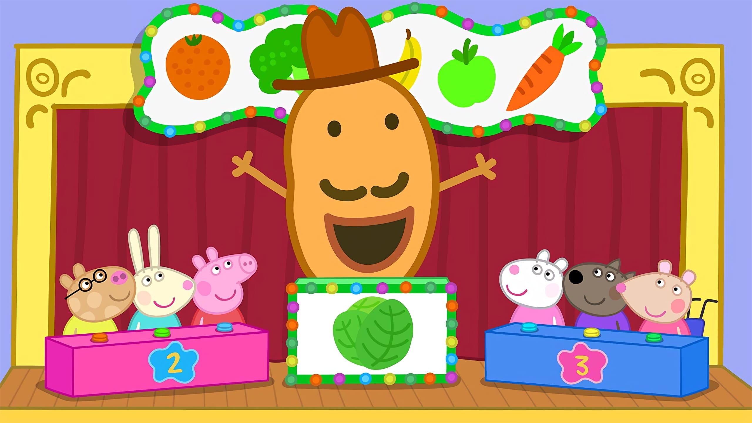 Peppa Pig Season 6 :Episode 31  Mr Potato's Fruit and Vegetable Quiz