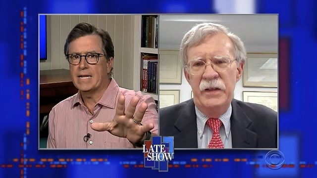 The Late Show with Stephen Colbert Season 5 :Episode 151  John Bolton / Noah Cyrus / Billy Ray Cyrus