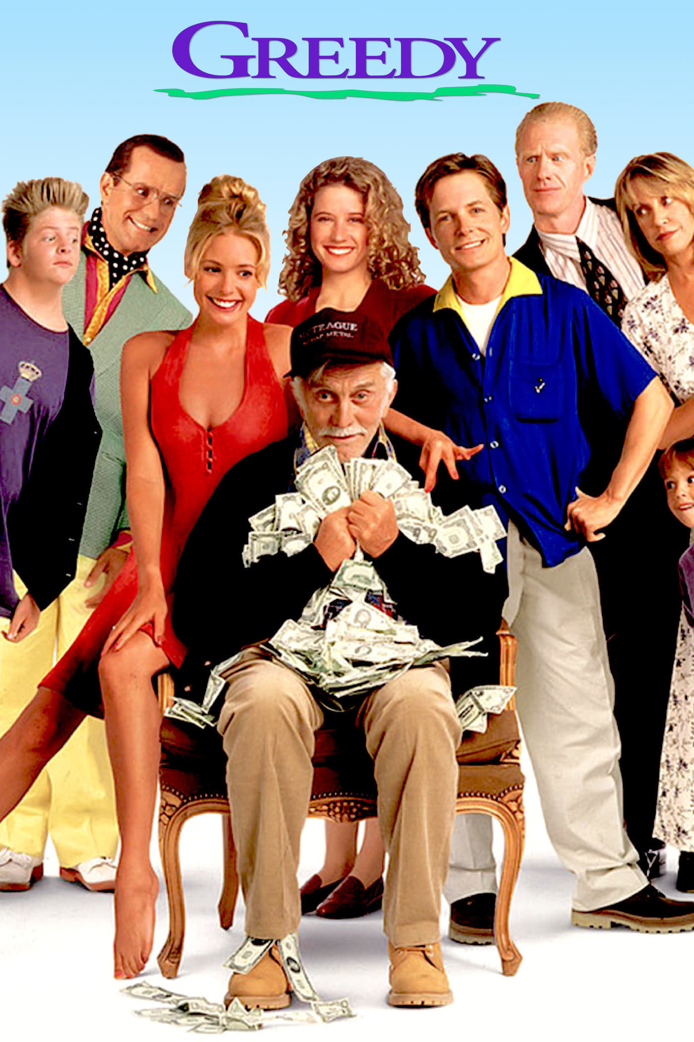 greedy Directed by jonathan lynn with michael j fox, kirk douglas, nancy travis, olivia d'abo uncle joe is ageing he's also a millionaire that's why his family is trying so very hard to get into his good books they all want a piece of his empire unfortunately uncle joe isn't as stupid as his family thinks he is he can see that his family is only nice to him because they want his money.