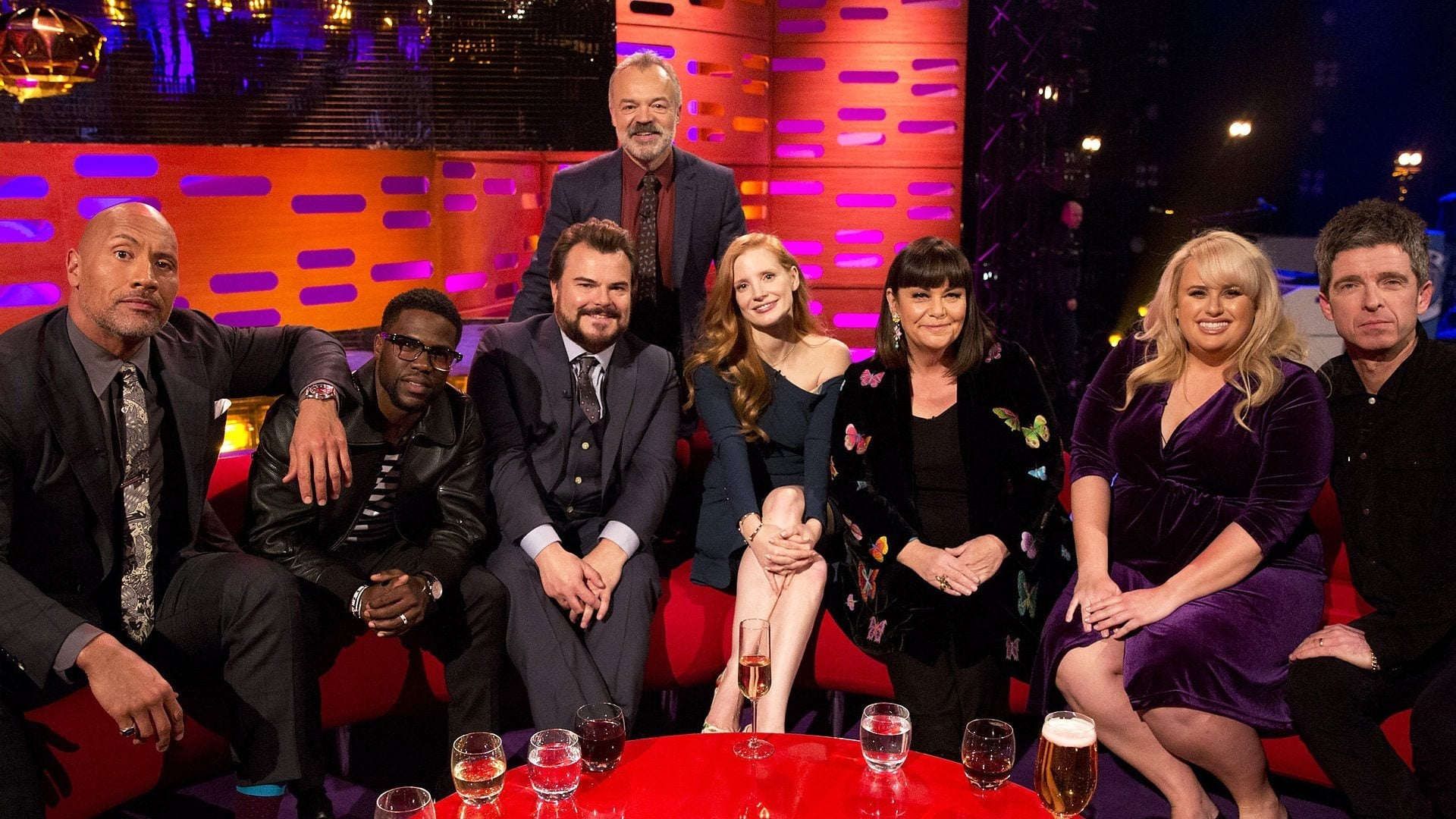 The Graham Norton Show Season 22 :Episode 10  Jessica Chastain, Dawn French, Rebel Wilson, Dwayne Johnson, Kevin Hart, Jack Black, Noel Gallagher