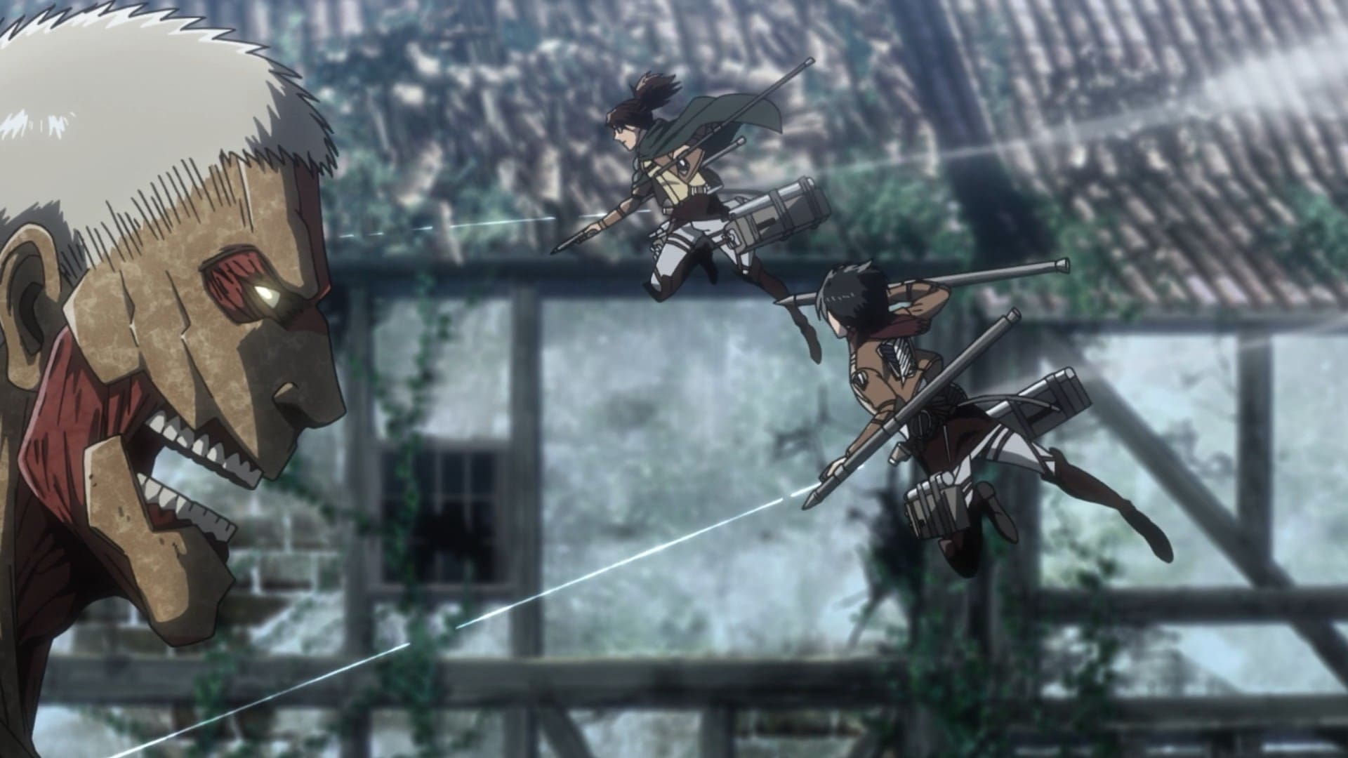 Attack on Titan Season 3 :Episode 14  The Thunder Spears