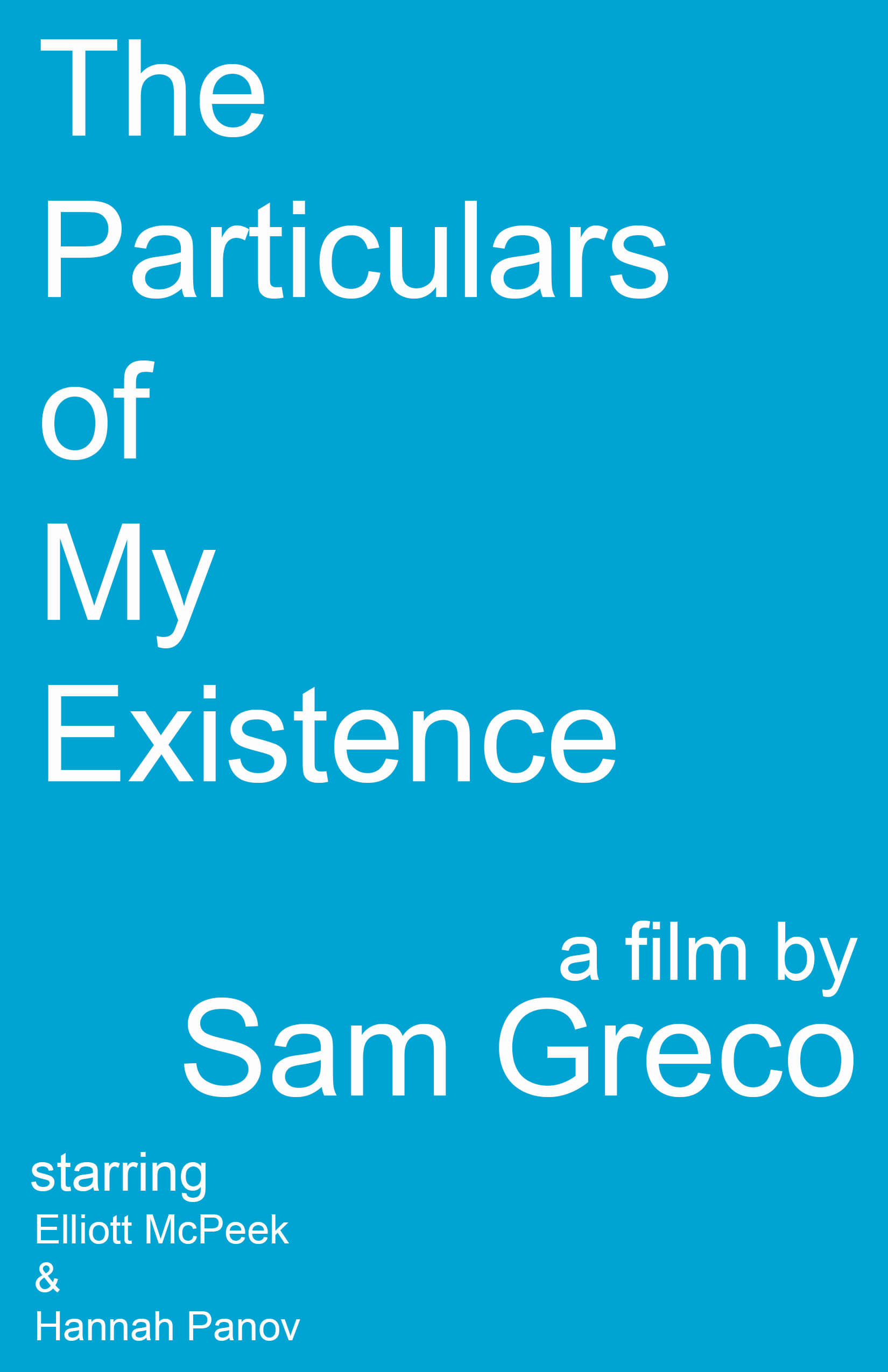 The Particulars of My Existence (1970)